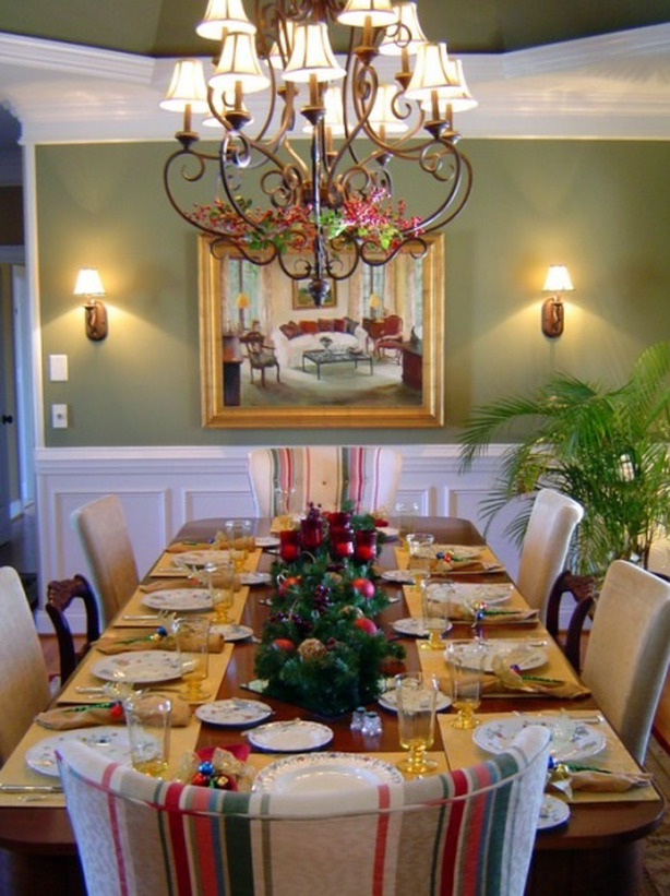 Christmas Banquet Table
