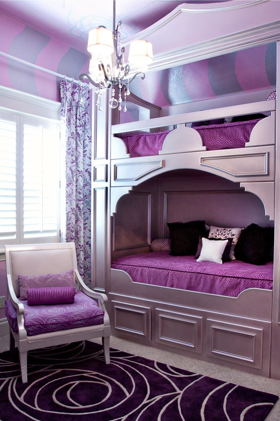 Cool-Bedroom-Decorating-Ideas-for-Teenage-Girls-with-Bunk-Beds
