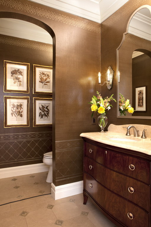 Dark-Brown-Decoration-in-Traditional-Bathroom