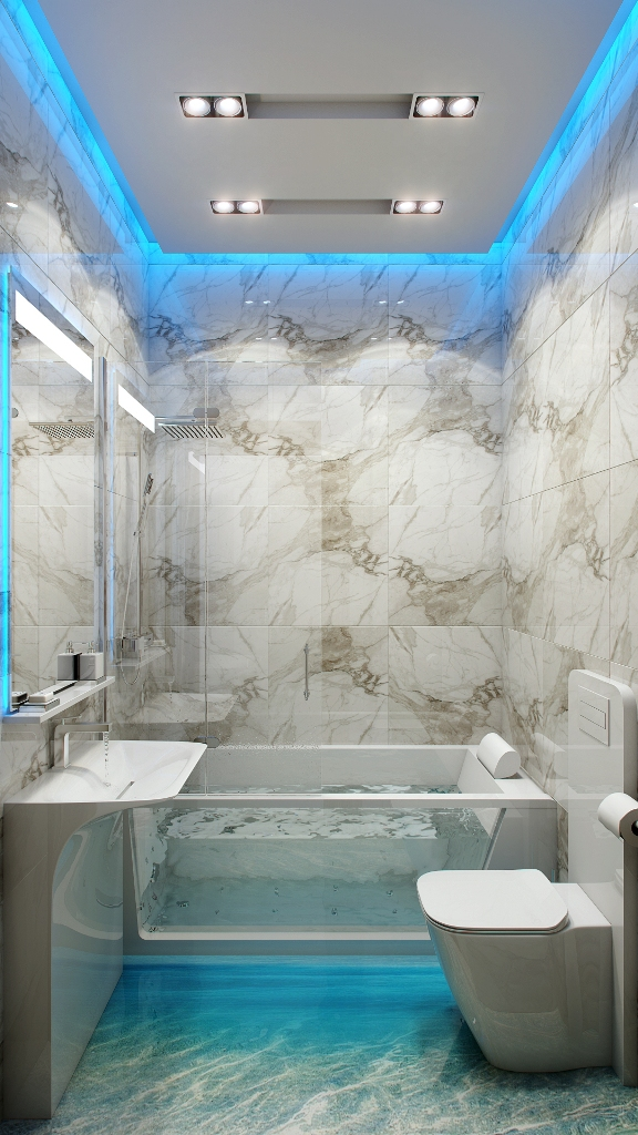 amazing-modern-marbled-small-bathroom-lighting-ideas-with-led-strip