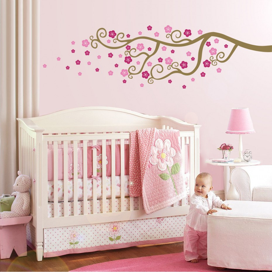 classic-cute-pink-wall-decorations-for-baby-bedrooms