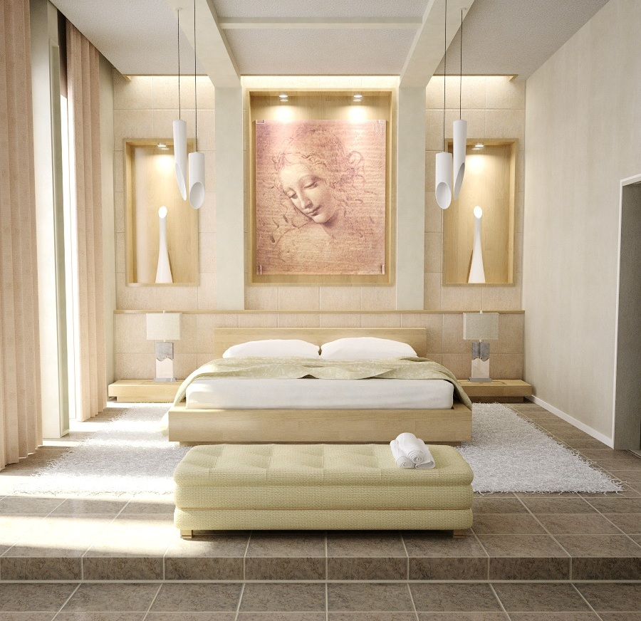lovely-master-bedroom-designs-with-modern-table-lamps