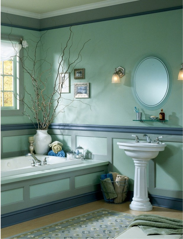 traditional-awesome-interior-sky-blue-bathroom-design-white-ancient-wall-mounted-marvelous-bathroom
