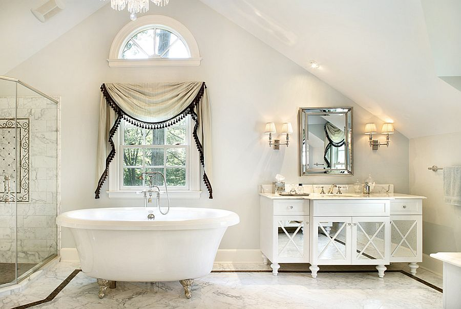 All-white-bathroom-with-a-relaxed-shabby-chic-style