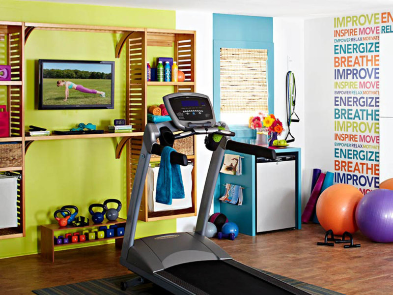 Colorful-Home-Gym-Design-Ideas