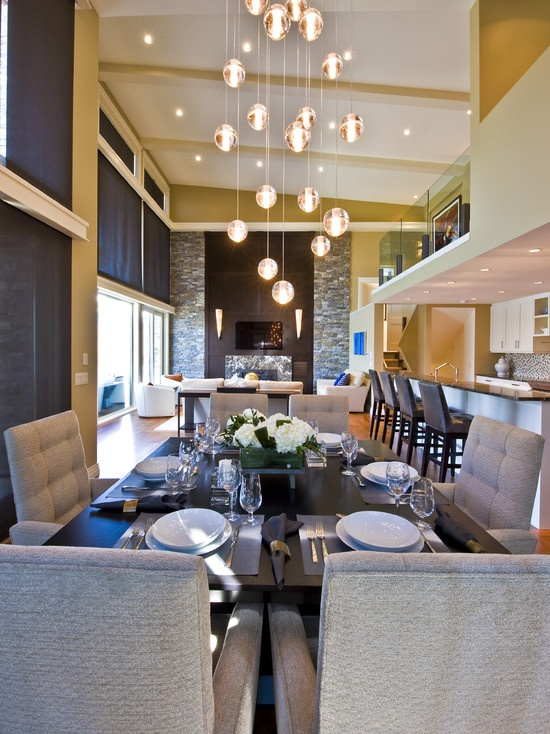 Dining Room Small Open Plan Kitchen Living Room Design