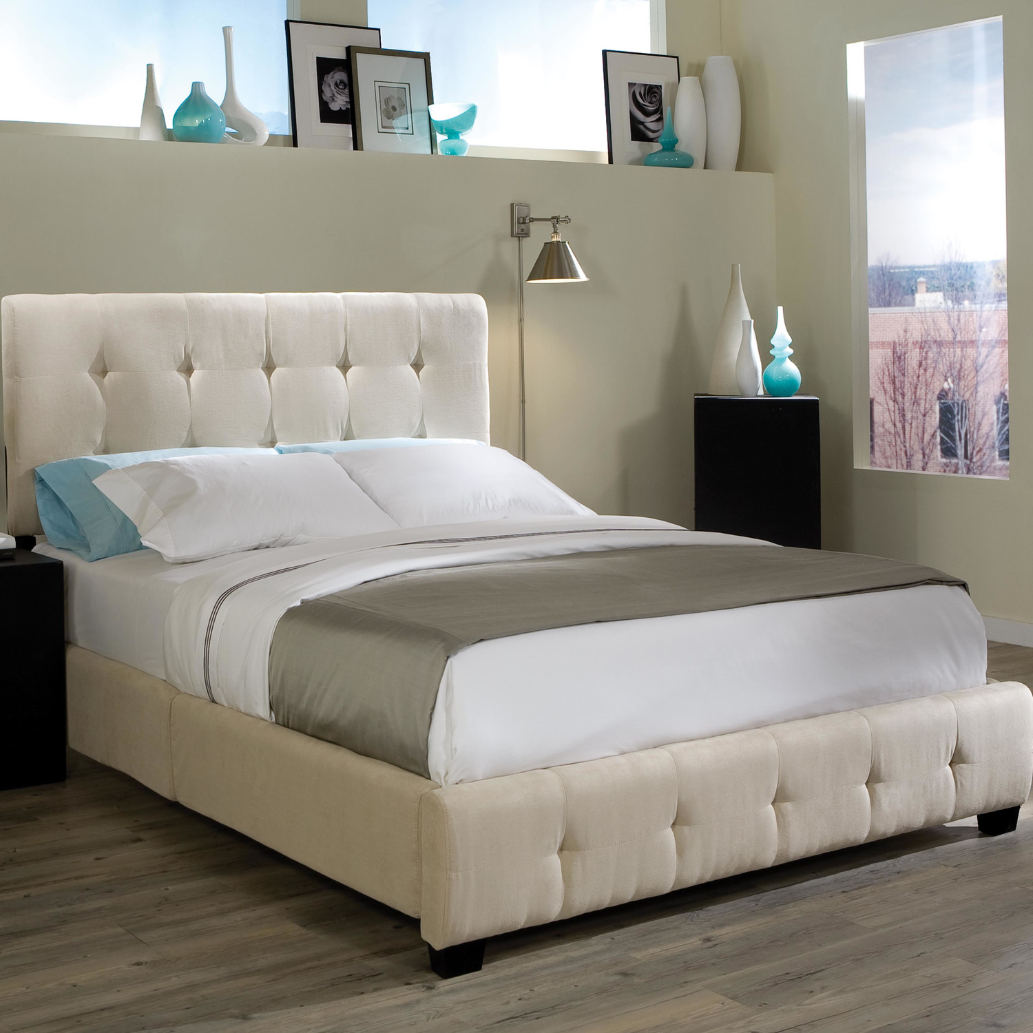 Madison Square Upholstered Panel Bed