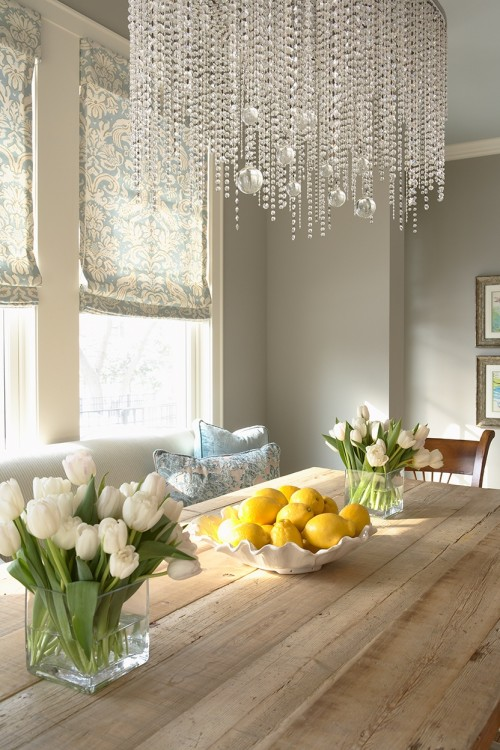 crystal-chandelier-ideas-on-eclectic-dining-room