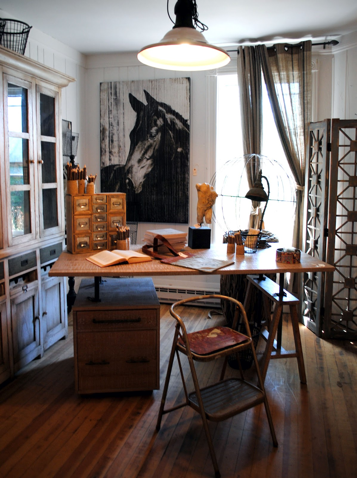industrial touches in the home Office