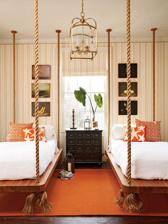 white-bed-sheet-also-orange-pillows-in-traditional-bedroom-design