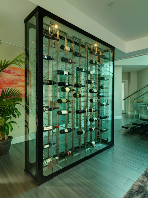 All Glass Wine Cellar modern-wine-cellar