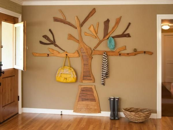 DIY Tree Coat Racks