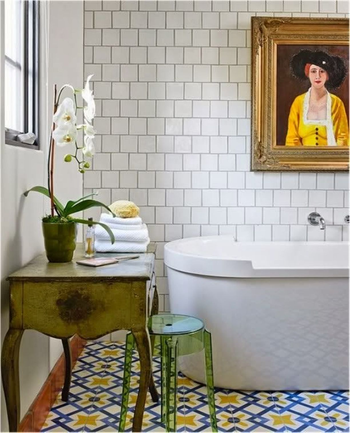 Eclectic Bathroom with Subway Tile Bathroom