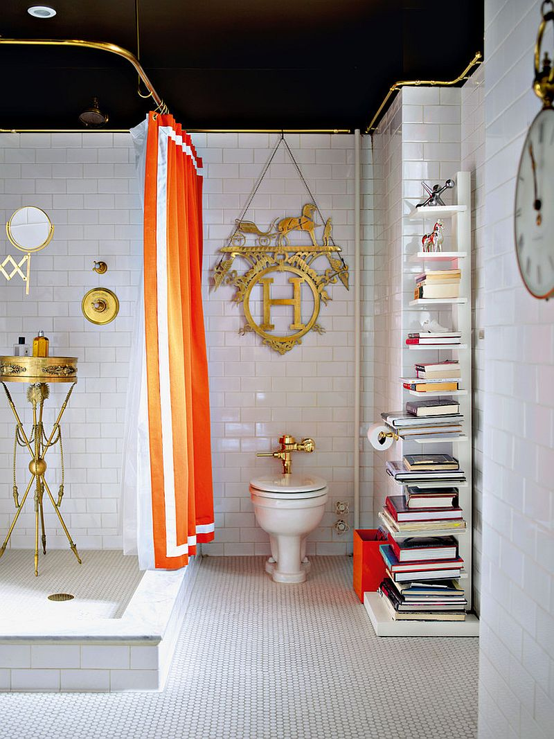 Eclectic Bathroom in Black & White