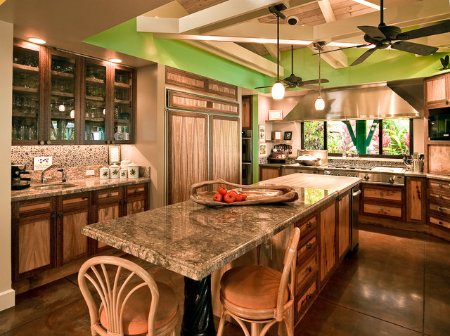 Hawaiian Cottage Style Kitchen