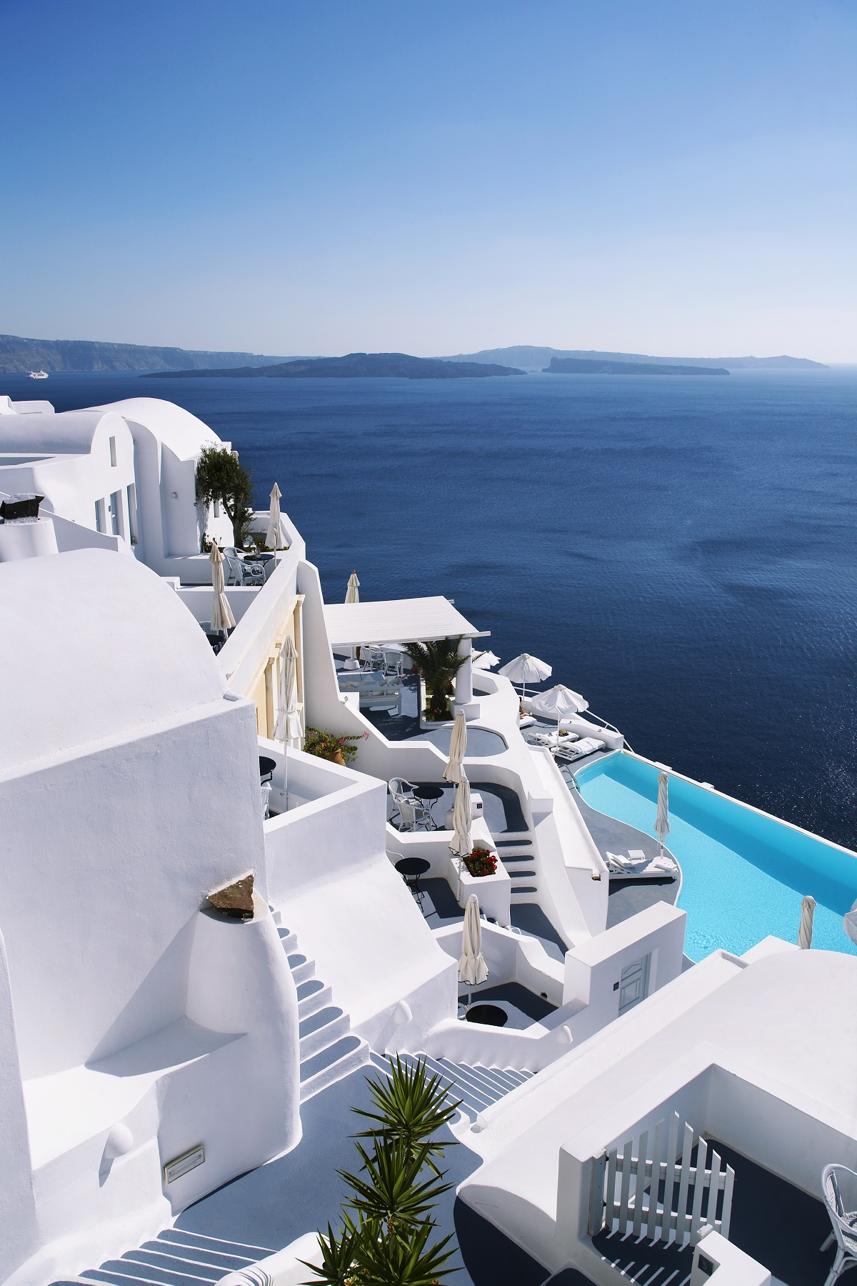 Infinity pool at Katikies Resort on Santorini