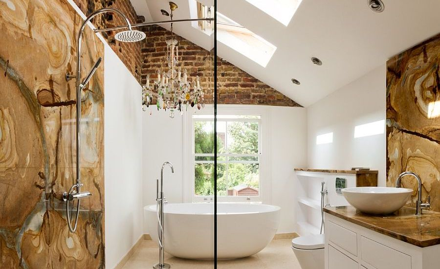 Textured Eclectic Bathroom
