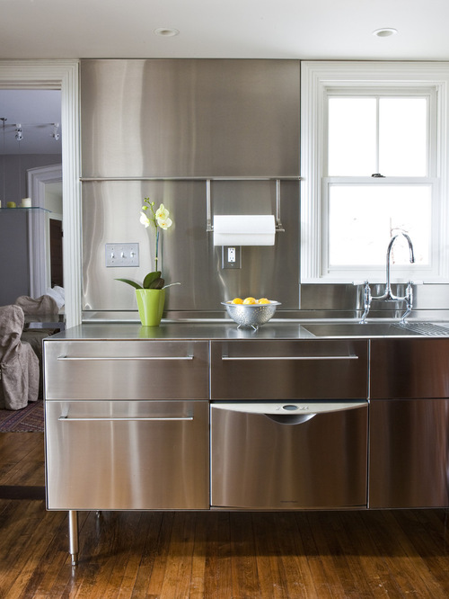 Transitional Stainless Steel Kitchen
