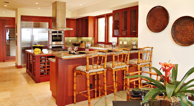 Tropical Granite Kitchen