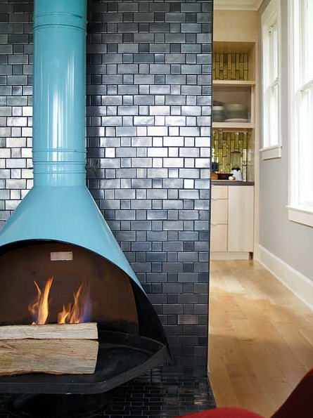 Unique Cone Shaped Fireplace
