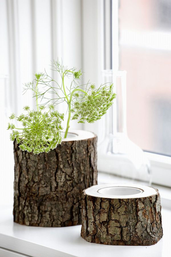 Unique-tree-stump-vases