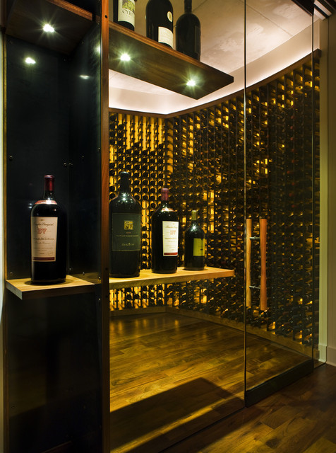 contemporary-wine-cellar-wine-cellar-stainless-steel-portfolio-fabrics-home-designs-back-lighting-backlit-fabrication