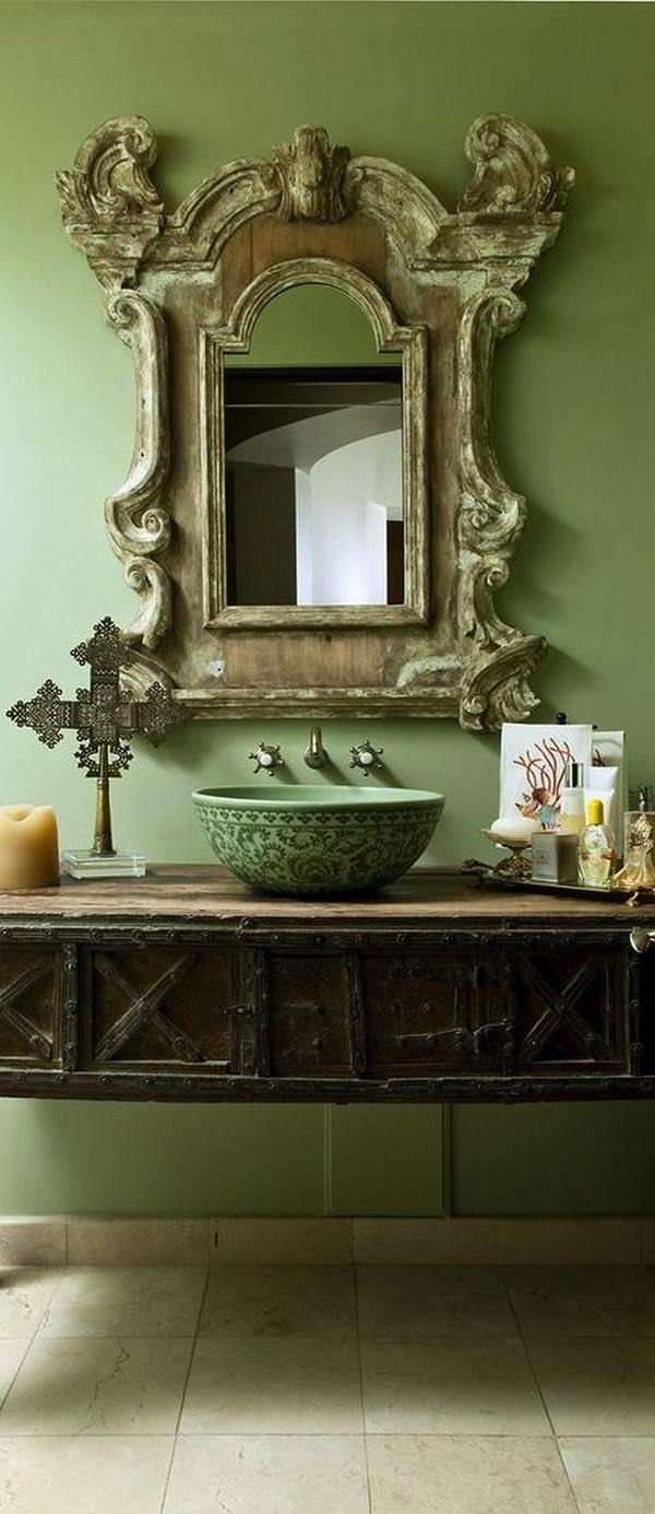 vessel sink antique mirror vanity unique bathroom designs