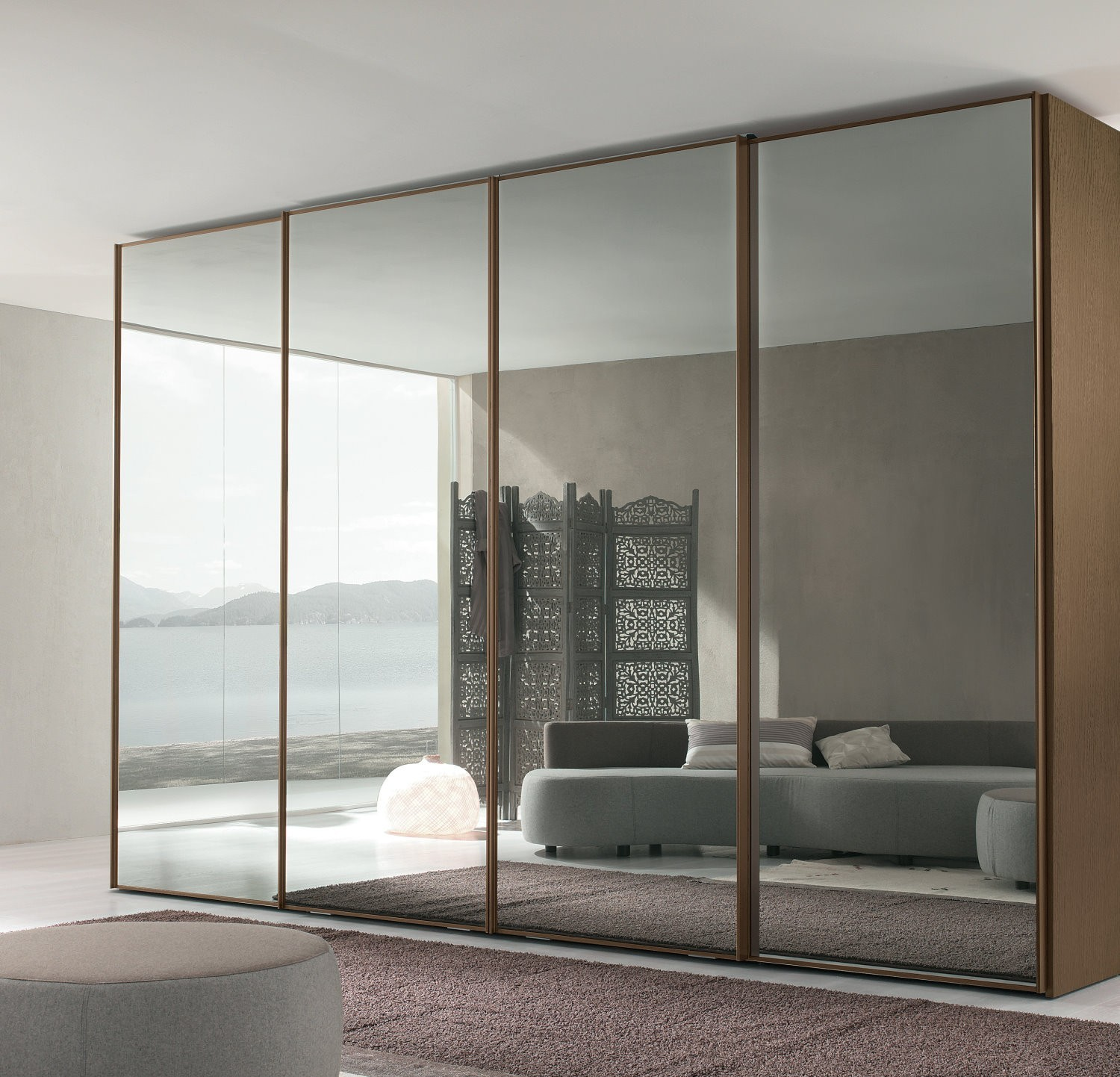 Attractive Master Bedroom Mirror Closet Door Designs Ideas