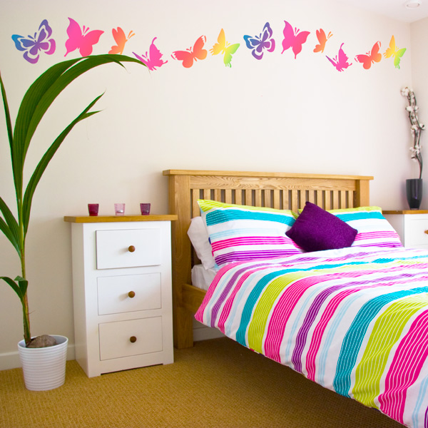 Butterfly-Bedroom-Wall-Decor-Ideas