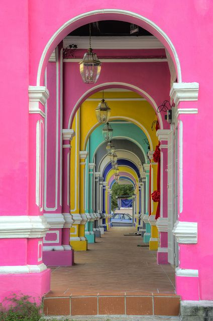 Colorful passage in Georgetown, Penang, Malaysia