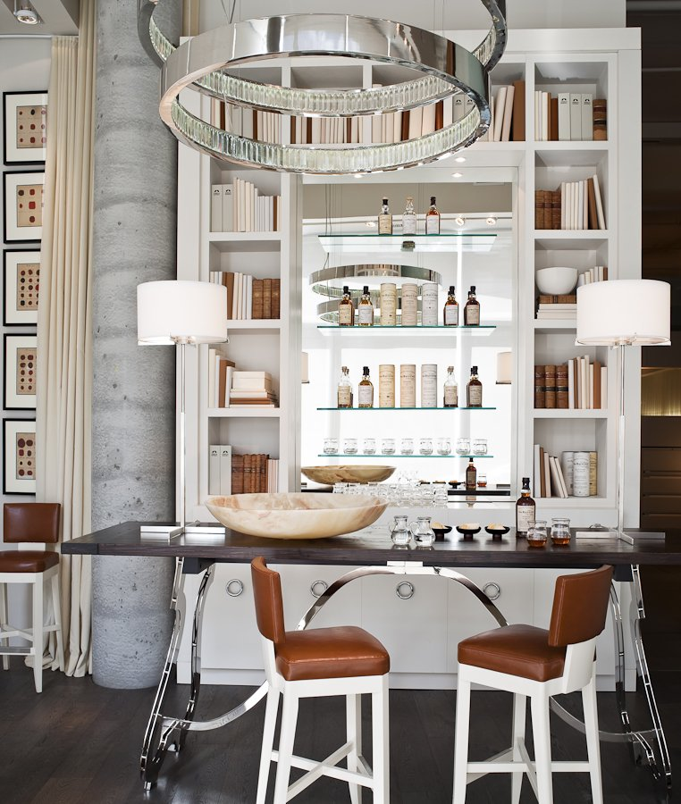 Eclectic Home Bar Design