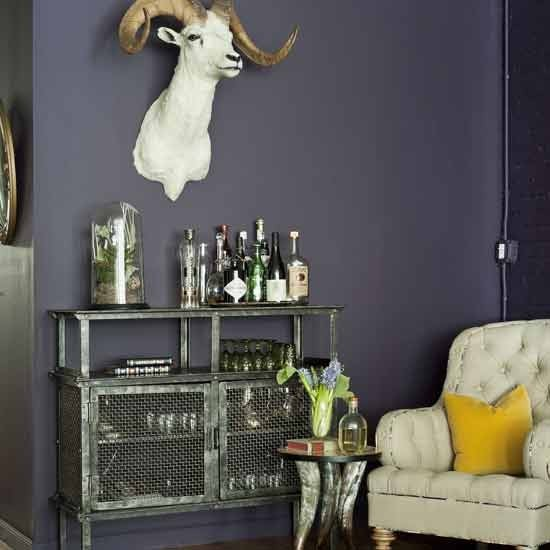 Eclectic home bar area