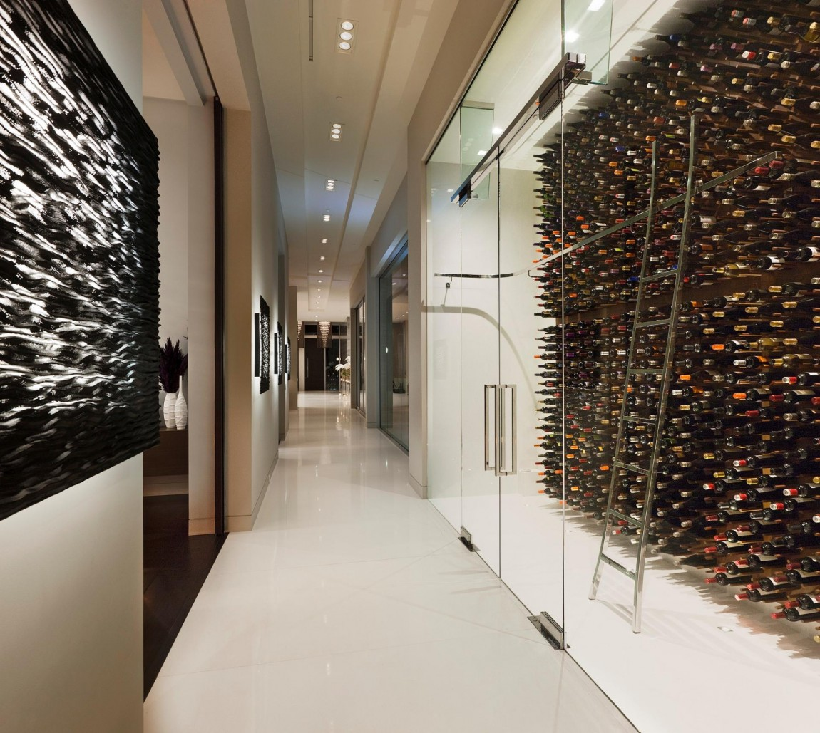 Modern wine storage gallery