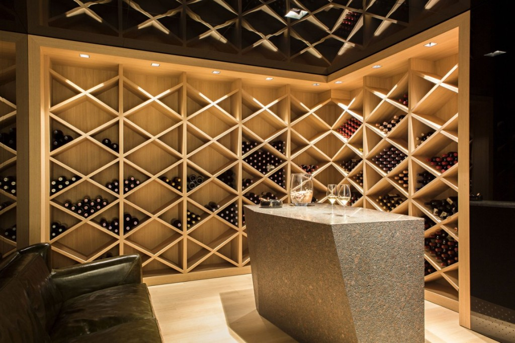 Modern wooden wine cellar designs