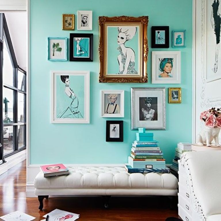 Quirky Living Room with Gallery Wall