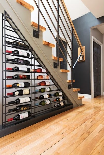 Under staircase wine storage