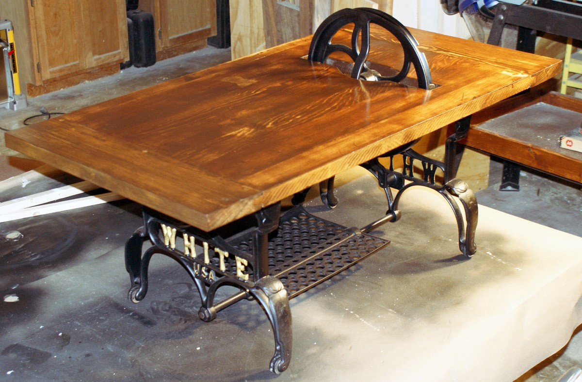 Unique Industrial Sew Coffee Table