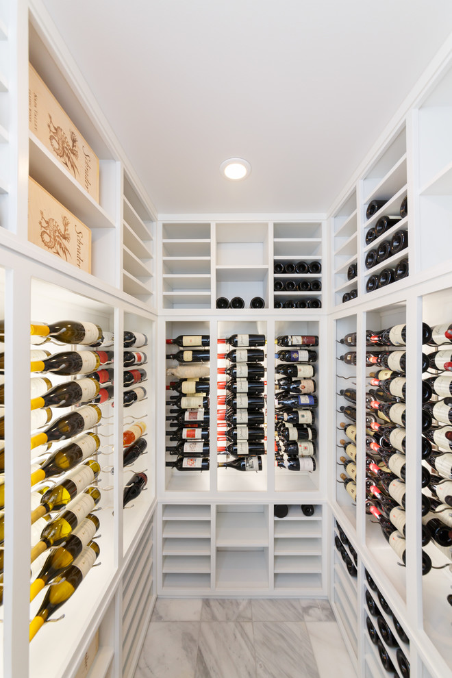 modern white color wine rack