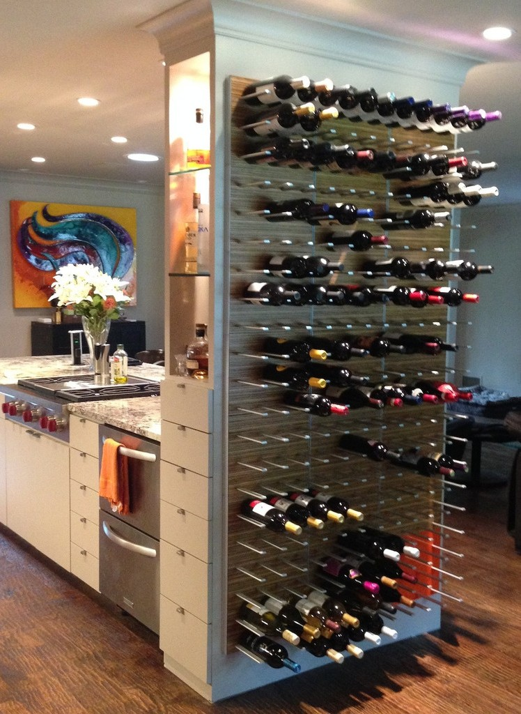 wall mounted kitchen wine storage