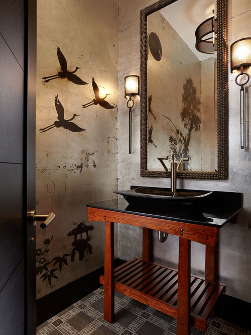 Asian Powder Room Design Ideas
