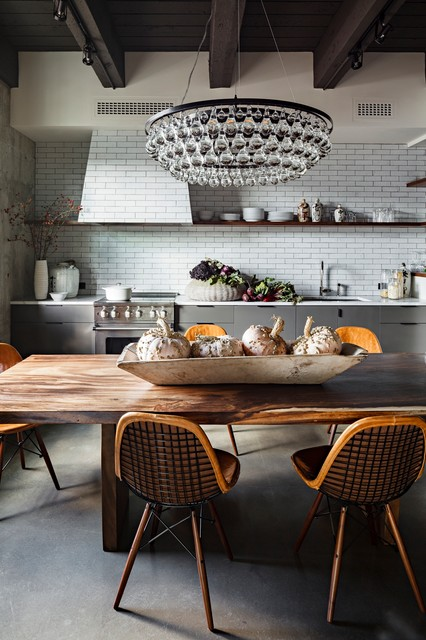 Beautiful Industrial Kitchen with subway tiles