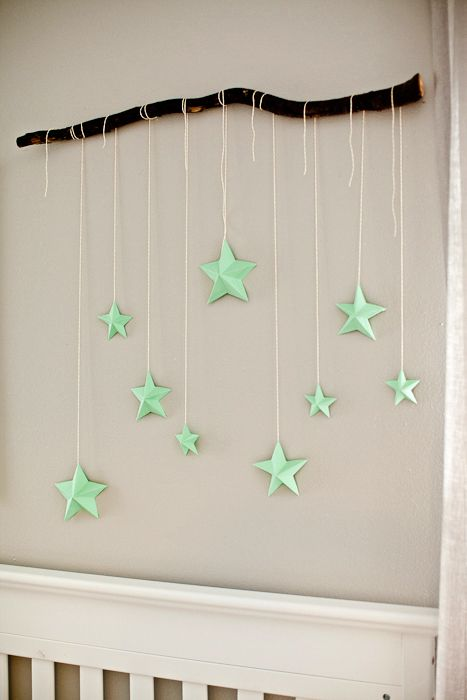 Creative NURSERY BRANCH WITH 3D STARS
