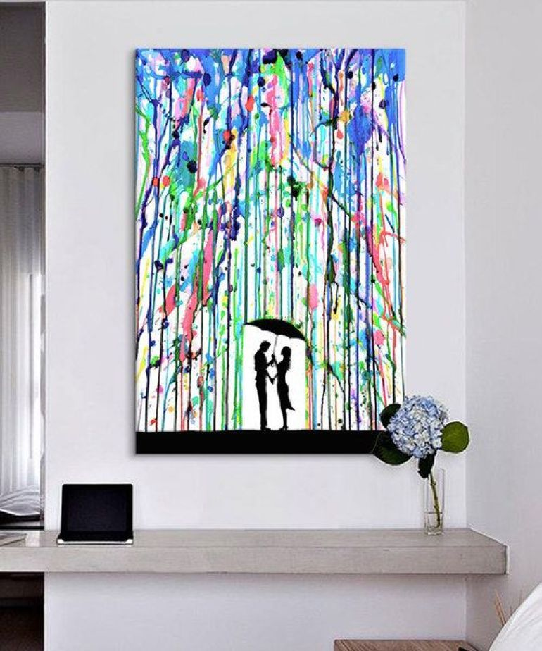 DIY Wrapped Canvas Wall Art