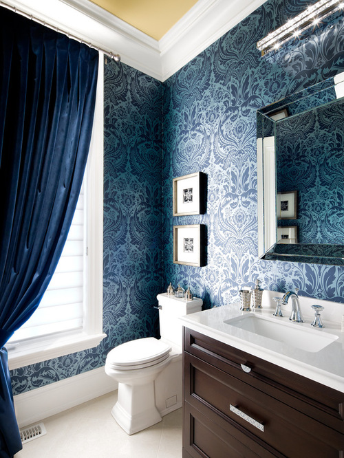 Elegant Powder Room Home Design Photos