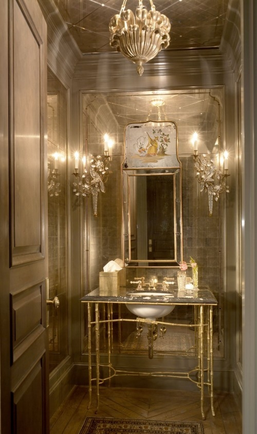 Elegant powder room by