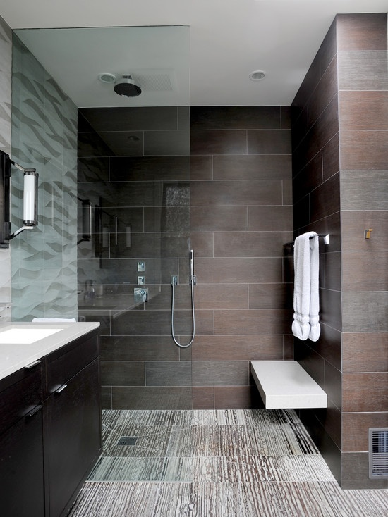 Modern Bathroom Inset Cabinets Design Ideas