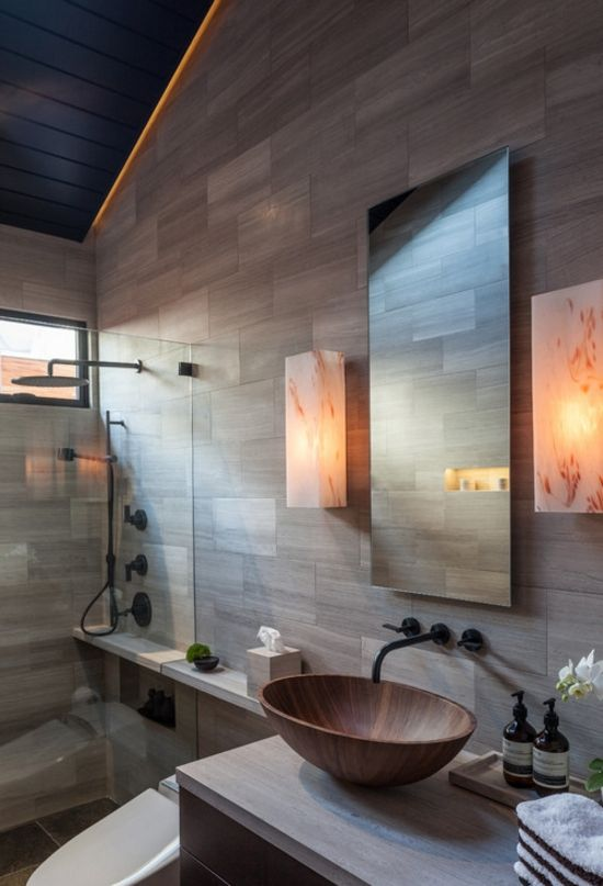 Modern bathroom design with beautiful sink