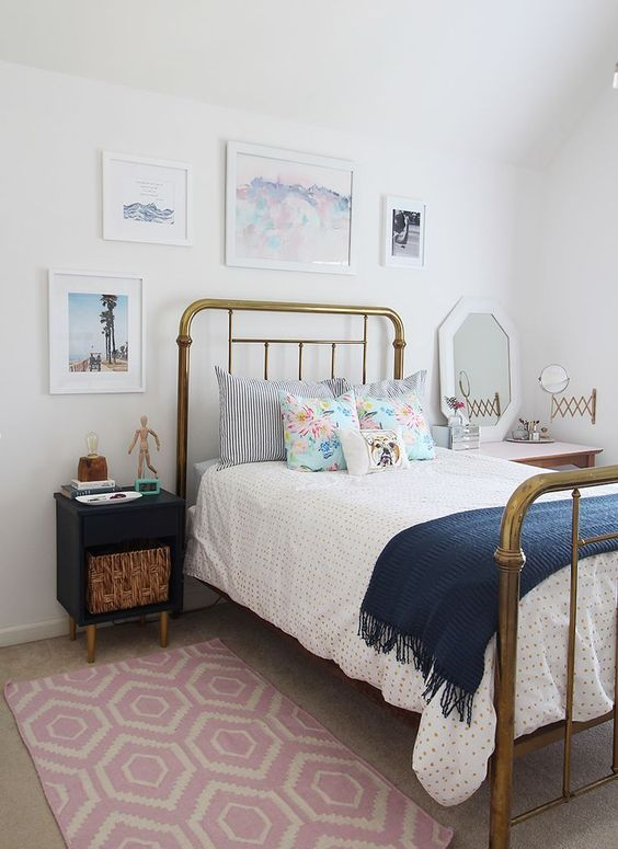 Modern vintage teen bedroom