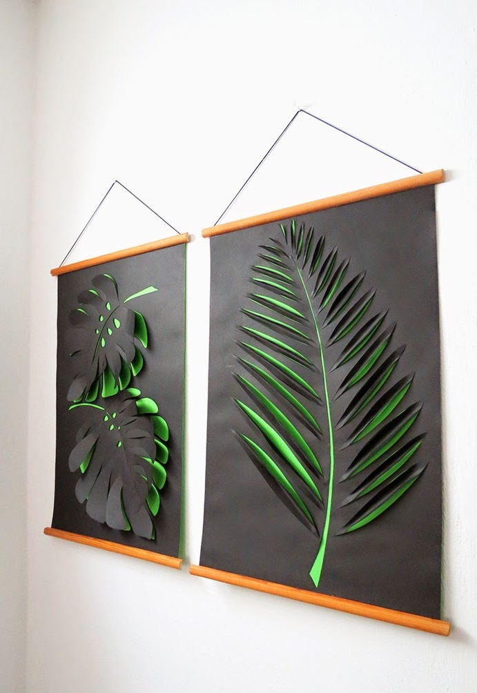 Paper Cut-Outs wallart-leave