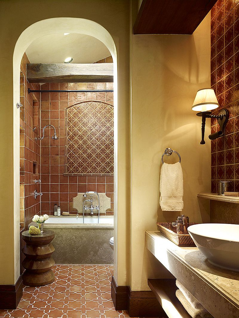 Terracotta-tiles-Mediterranean-bathroom